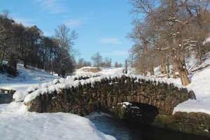 One of 7 bridges Studley in Snow